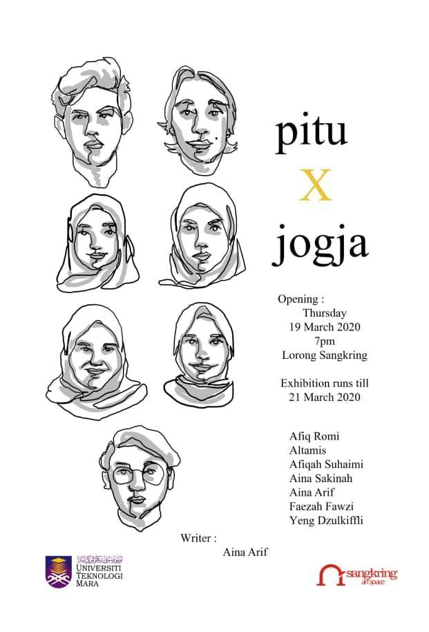 poster pameran pitu x jogja residensi mahasiswa universitas mara sangkring art